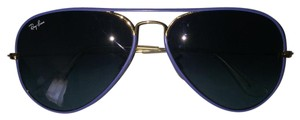Ray-Ban Ray-ban Aviator- Matte Blue And Black Lenses