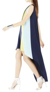 Navy/Lime Green/Baby Blue Maxi Dress by BCBGMAXAZRIA Brand New With Tags