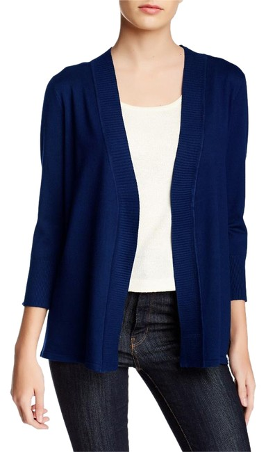 Item - Blue Open Front 3/4 Sleeve Sweater Small 4 Cardigan Size 6 (S)