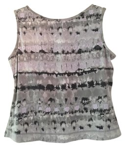 Jockey Jockey Activewear Sleeveless Gray Purple Multi-Color Top XL