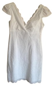 Laundry by Shelli Segal short dress White Eyelet Scalloped V-neck on Tradesy
