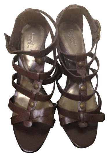 Simply Vera Vera Wang Brown Leather Sandals
