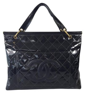 Chanel Patent Leather Satchel in Black