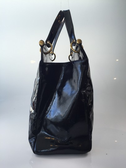 Chanel Patent Leather Classic Satchel in Black