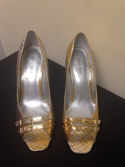 Nine West Gold And Silver Pumps