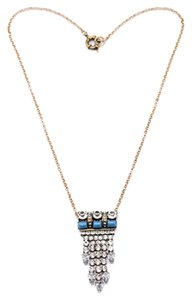 Private Collection Crystal and Turquoise Stone Pendant Necklace
