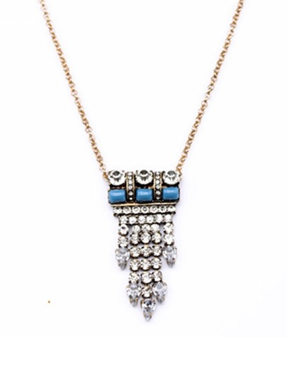 Other Crystal and Turquoise Stone Pendant Necklace Image 1
