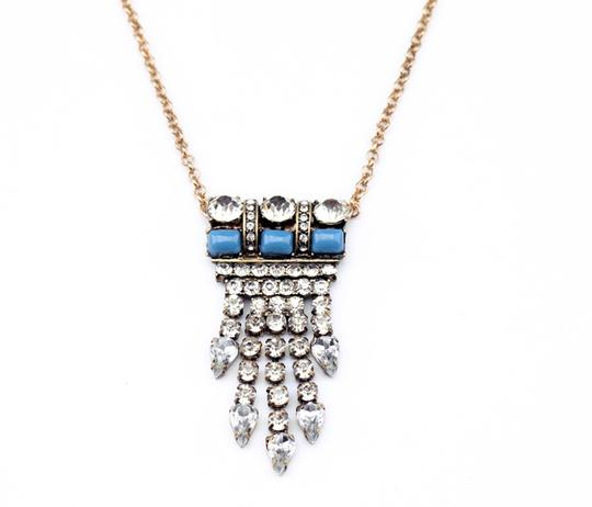 Other Crystal and Turquoise Stone Pendant Necklace Image 2