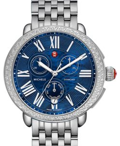 Michele NWT SEREIN CHRONOGRAPH DIAL BLUE MOP DIAMOND WATCH MWW21A000048