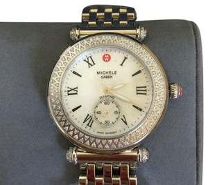 Michele NWOT MICHELE CABER MOTHER OF PEARL & DIAMOND WATCH MW16A01A2025