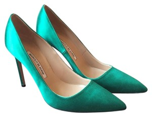 Manolo Blahnik Emerald Green Pumps