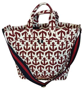 Tommy Hilfiger Beach Tote in White Red