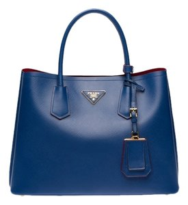 Prada Leather Tote in Blue