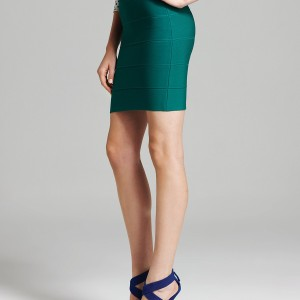 BCBGMAXAZRIA Mini Skirt Emerald