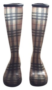 Burberry Plaid Boots