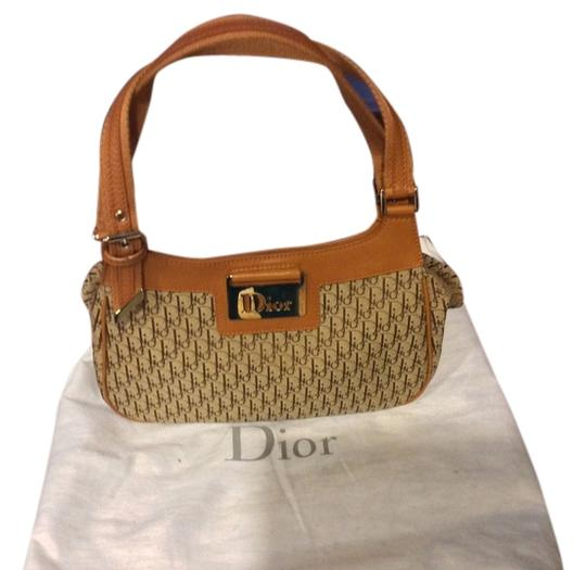 "Dior ""diorissimo "" Satchel in Brown and Beige Monogram"