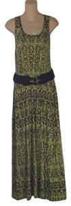 Green and brown Maxi Dress by Cynthia Rowley