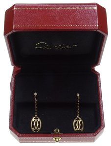 Cartier Cartier 18k Yellow Gold and Diamond Drop Earrings