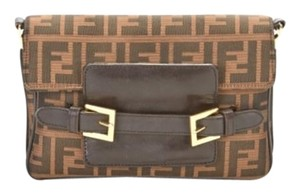 Fendi Monogram 3-in-1 Leather Gold Hardware Shoulder Bag