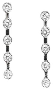 Other 14K White gold 1.0 Ct Round Diamond Dangle Drop Earrings 3.8 Grams