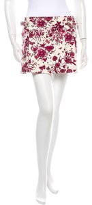 Gucci Mini Skirt Red & White Gucci Flora Print