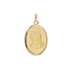 Avital & Co Jewelry 14k Yellow Gold Ecce Homo Oval Medal With Christ Head Pendant