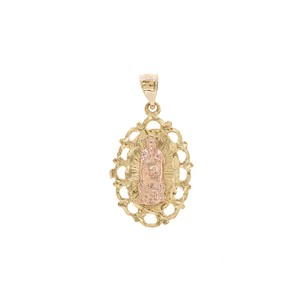 Avital & Co Jewelry 14k Two Tone Gold Blessed Saint Mary Mother Of God Virgin Mary Pendant