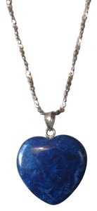 Other Lapis Gemstone Heart Pendant on Sterling Chain