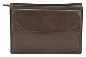 Saint Laurent Ysl Yves Brown Clutch
