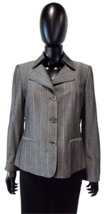 Ellen Tracy Button Down Collared Gray Blazer