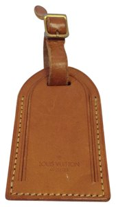 Louis Vuitton #8195 Logo Vachetta Leather Luggage Tag