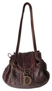 Dior Leather Satchel in Brown