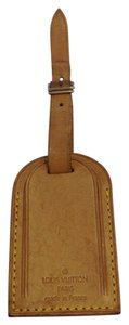 Louis Vuitton #8197 Logo Vachetta Leather Luggage Tag