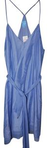 Barneys Co-Op short dress Light Blue Silk Trim on Tradesy