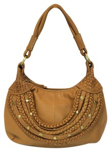 Isabella Fiore Woven Leather Ella Hobo Bag