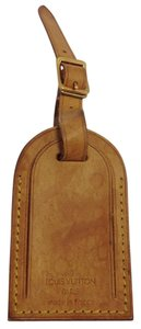 Louis Vuitton #8198 Logo Vachetta Leather Luggage Tag