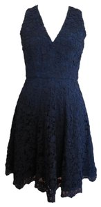 French Connection Lace Skater V-neck Fitted Dress