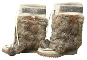 Coach Suede and Angora Maryanne Boot in Natural Natural Boots
