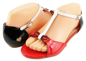 Love Moschino Designer Eur 36 Red Red/ White/ Black Sandals