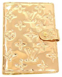 Louis Vuitton Gold Miroir Leather Agenda PM Day Planner Cover Limited Edition France