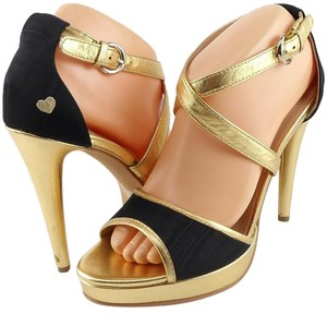 Love Moschino Heart Designer Black/ Gold Pumps