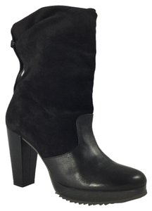 Robert Clergerie Black suede leather Boots