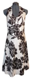 Ann Taylor Halter Silk Floral Dress