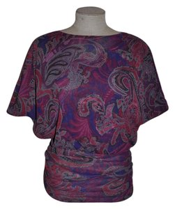 Sweet Pea by Stacy Frati Paisley Casual Batwing Boho Top