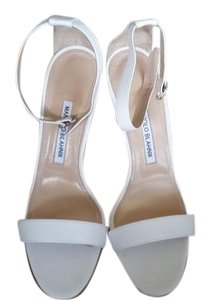 Manolo Blahnik New Designer White Sandals