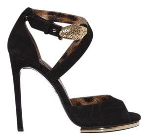 Roberto Cavalli Suede BLACK Pumps