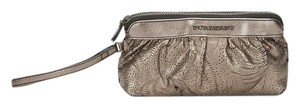 Burberry Leather Makeup Wristlet in Gunmetal