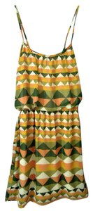 fab'rik short dress green & yellow multi on Tradesy