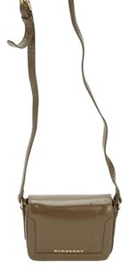 Burberry London Canvas Patent Cross Body Bag