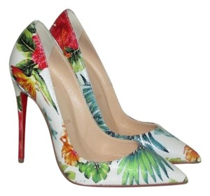 Christian Louboutin Hawaii White Pumps